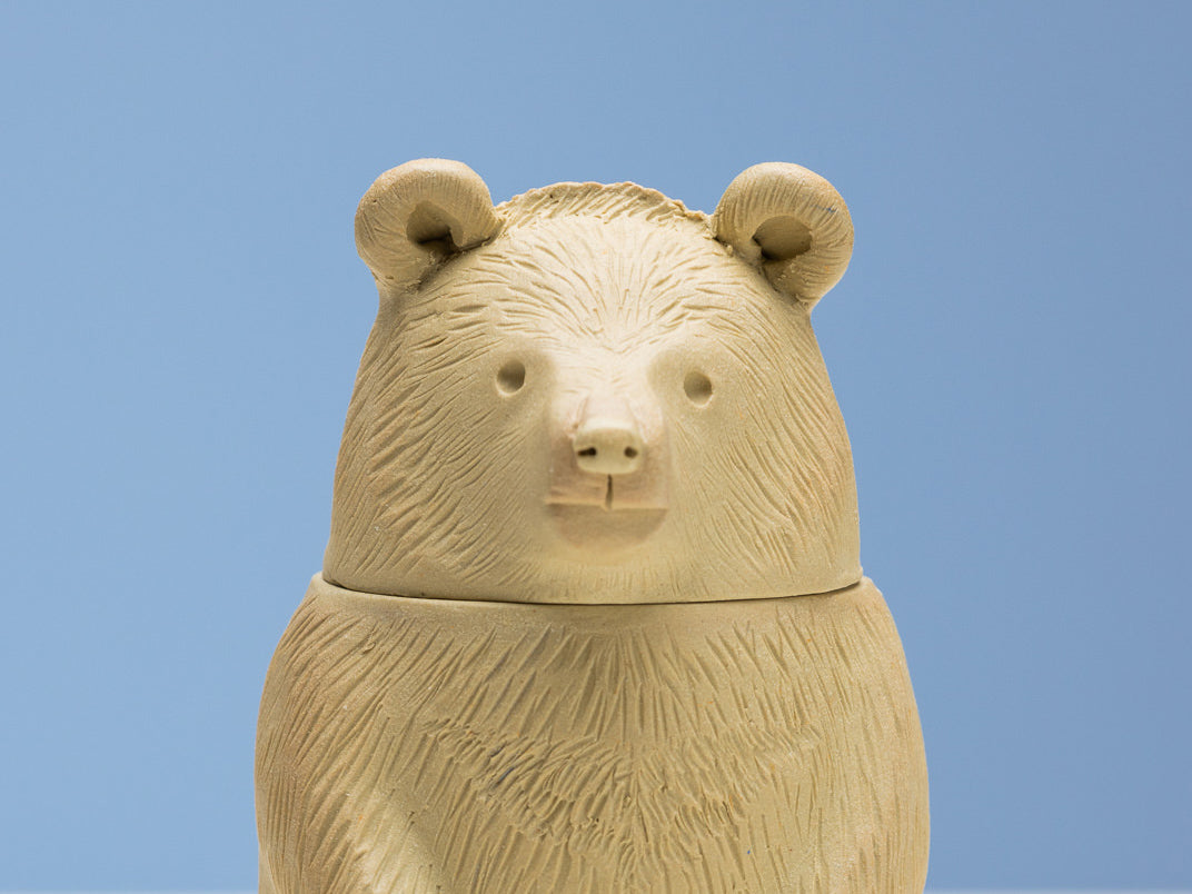 contemporary ceramic animal canopic jar