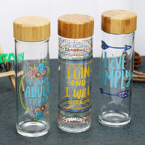 Glass Water Bottle | Self Care Bottle