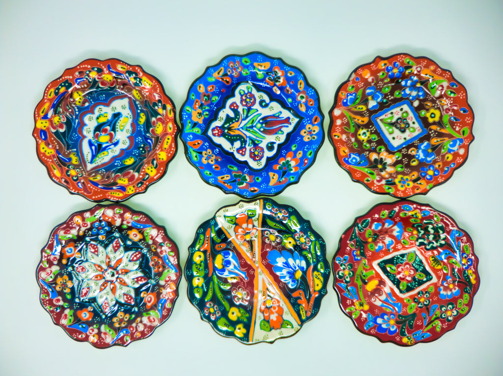 "5"" Ceramic Plates(Set of 6)"
