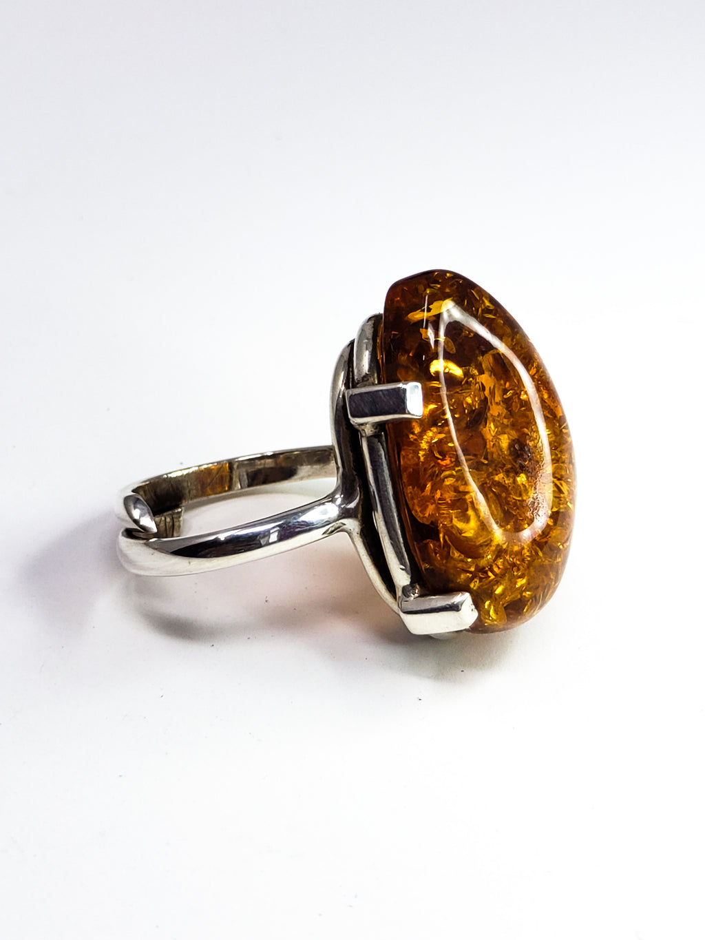 Baltic Amber adjustable Ring