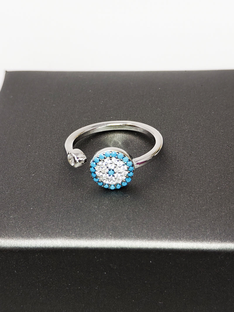 Sterling Silver Adjustable Charm Ring