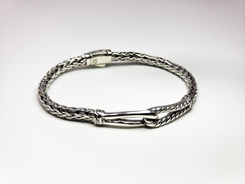 Heavy Solid Silver Chain Friendship Bracelet