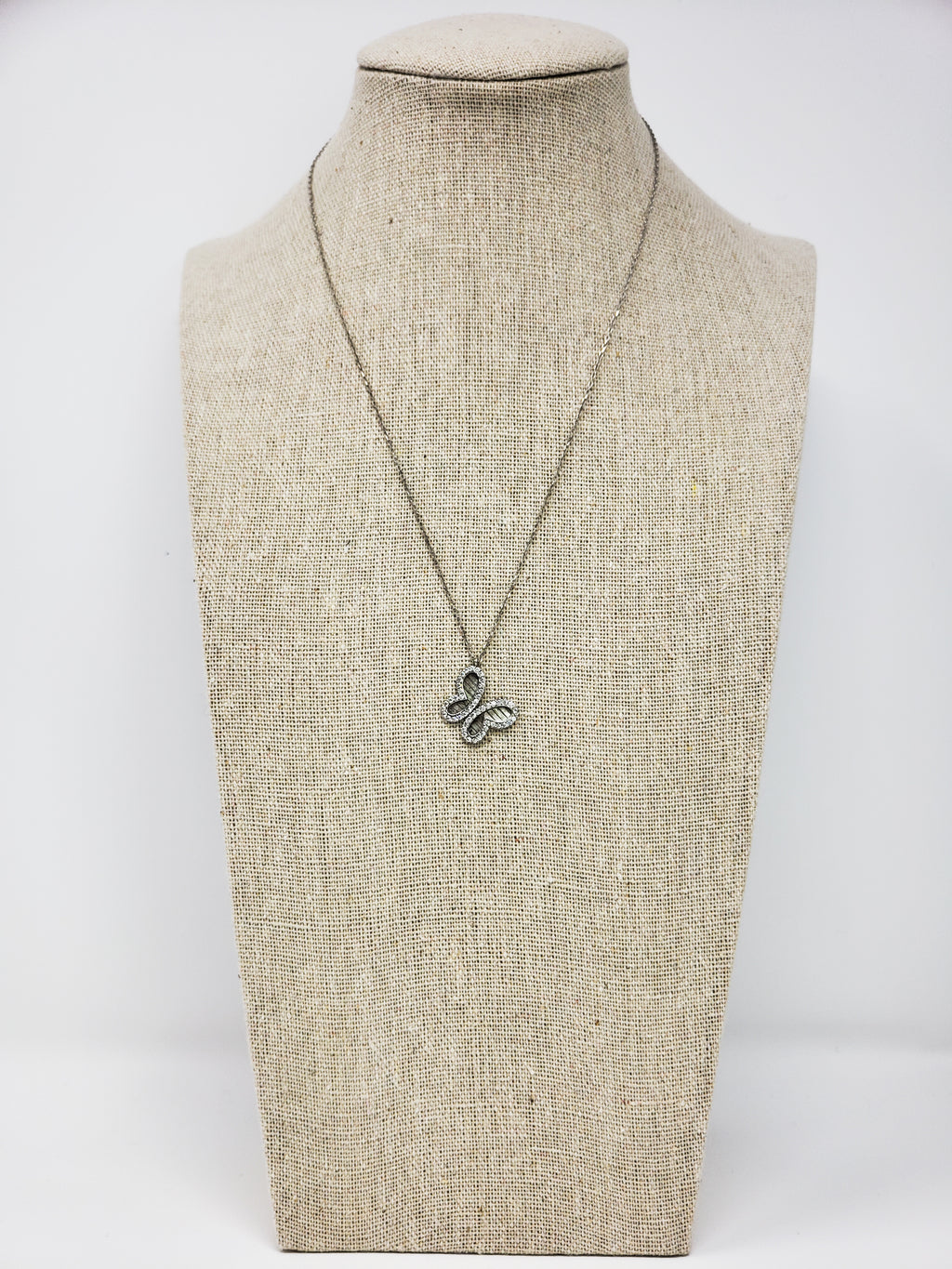 Butterfly Sterling Silver Charm Necklace