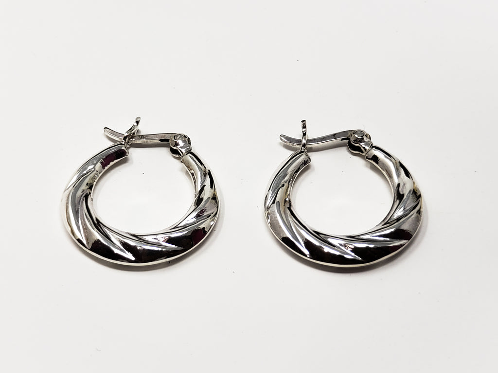 Sterling Silver Hoop Earnings