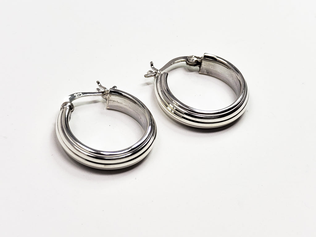 Sterling Silver Hooped Earrings