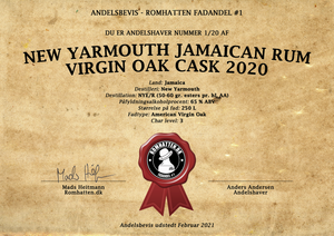 Fadandel #1: New Yarmouth Jamaican Rum Virgin Oak Cask 2020