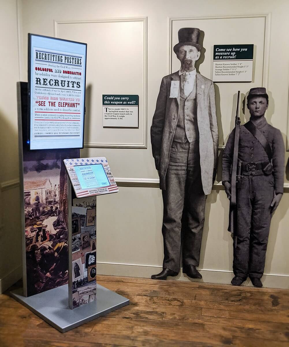 A Tower kiosk at the National Museum of Civil War Medicine.