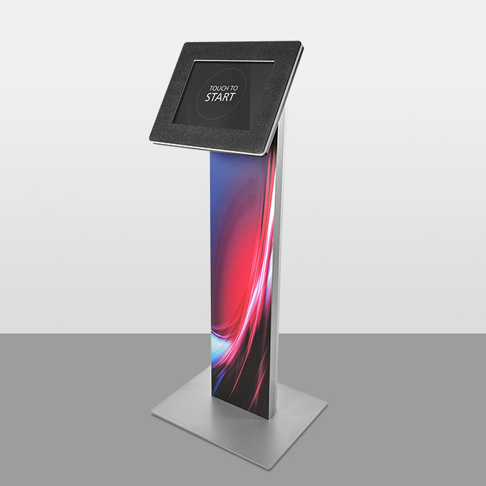 A graphic covering the front of the Standalone kiosk body.