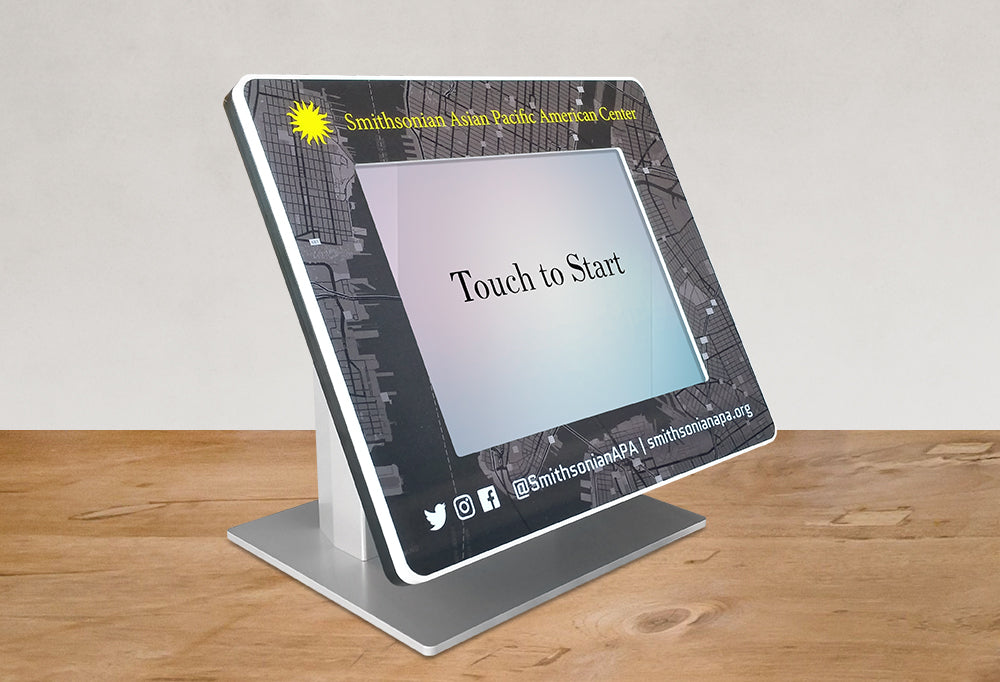 A Countertop with a Bezel graphic framing the tablet screen.