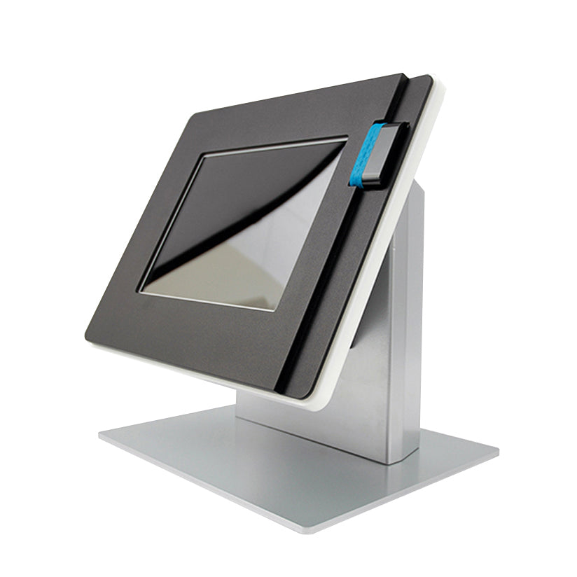 A Countertop kiosk with a Shuttle card reader.