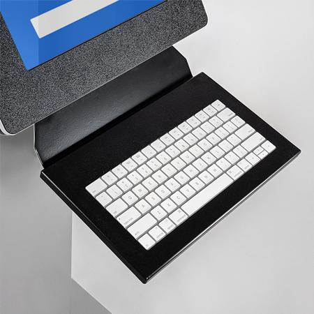 Provide a keyboard for accessible typing.