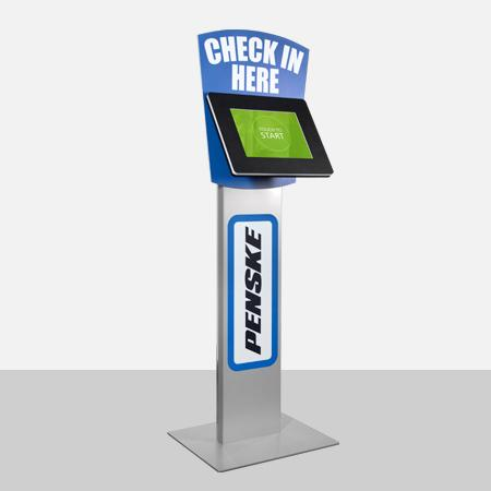 Use graphic panels to inform your visitors about what the kiosk is for.