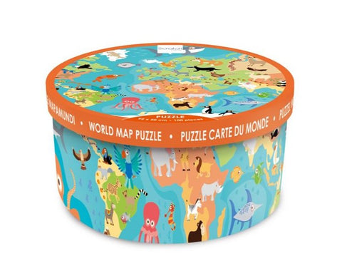 Scratch Europe - Puzzle XXL - 100pcs - Animals of the World