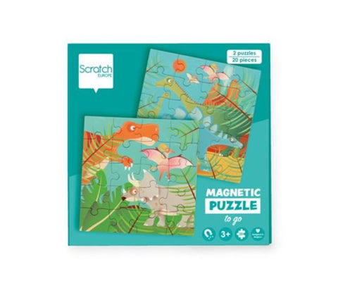 Scratch Europe - Puzzle - Magnetic Puzzle Book To Go - Dinosaurs