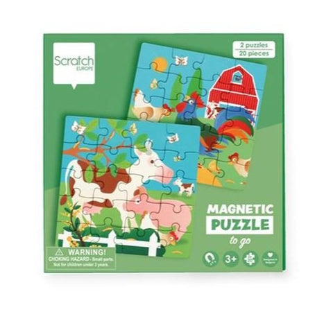 Scratch Europe - Puzzle - Magnetic Puzzle Book To Go - Farm