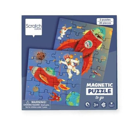 Scratch Europe - Puzzle - Magnetic Puzzle Book To Go - Space