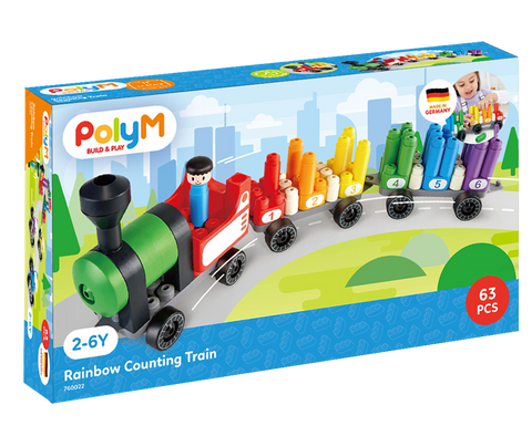 Poly M - Rainbow Counting Train Kit