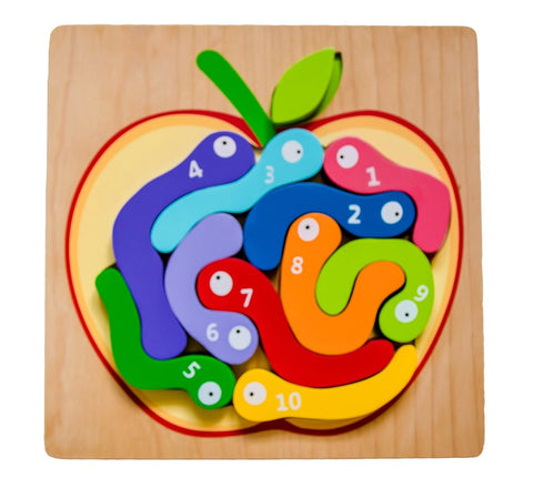 Kiddie Connect - Worm Numbers Puzzle