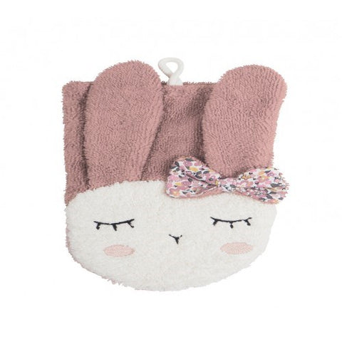 Kikadu - Wash Cloth - Rabbit - Pale Rose