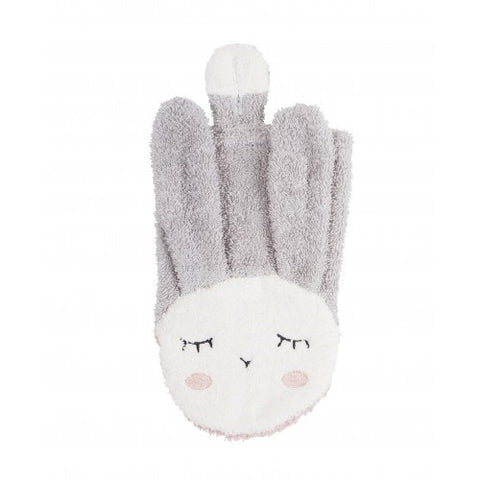 Kikadu - Wash Cloth - Rabbit - Silver Grey