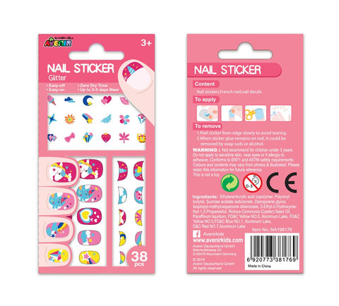 Avenir - Nail Stickers - Glitter Unicorn