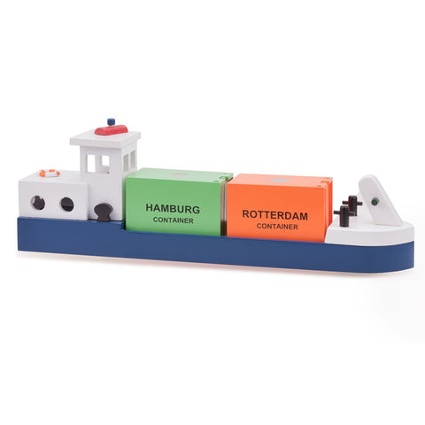 New Classic Toys - Barge with 2 Containers