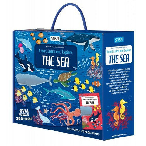 Sassi - Travel Learn and Explore - Puzzle & Book Set - The Sea