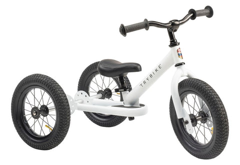 Trybike - White Edition with Black Seat