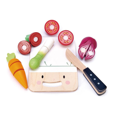 Tender Leaf - Mini Chef Chopping Board and Vegetables