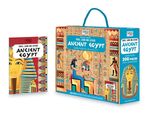Sassi - Travel Learn and Explore Puzzle & Book Set - Ancient Egypt
