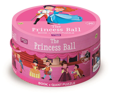 Sassi - Princess Ball Book and Giant Puzzle Set, 30 pcs