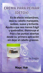 Crema para peinar Detox capilar Tratamientos capilares Magic Hair
