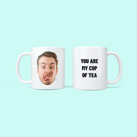 Personalised Face & Message Mug with man's face and you are my cup of team caption
