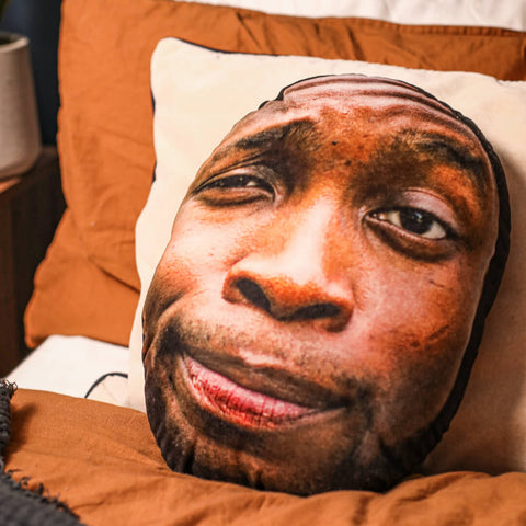 Personalised Face Cushion of a man