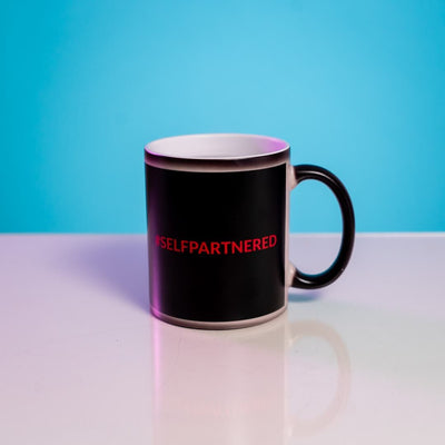 Anti-Valentine's Day Heat Change MugSelfPartnered Black