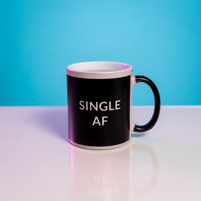 Anti-Valentine's Day Heat Change MugSingle AF Black