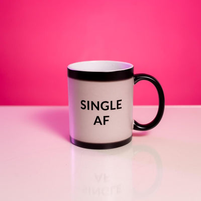 Anti-Valentine's Day Heat Change MugSingle AF White