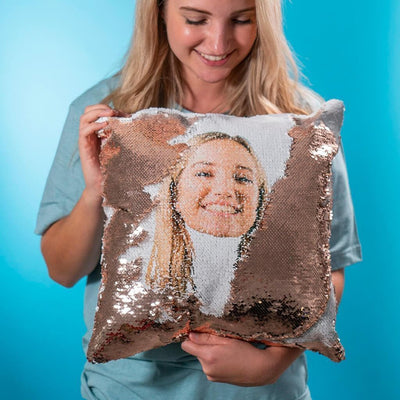 Customized Sequin Pillow CoverRose Gold 1 Cover