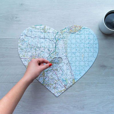Heart Shaped ZIP Code Puzzle