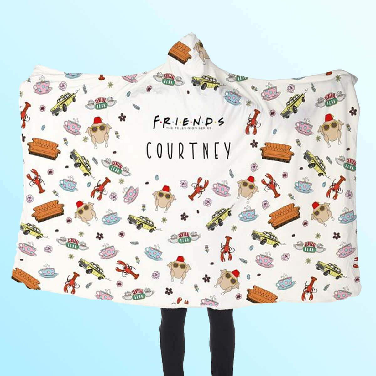 Personalised Friends™ Hooded Blanket