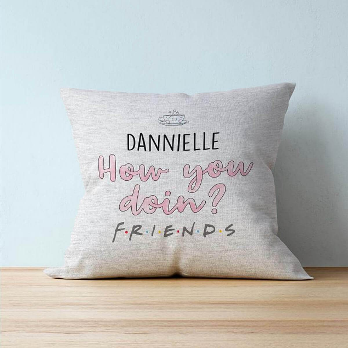 "Personalised Friends™ ""How you doin?"" Cushion"