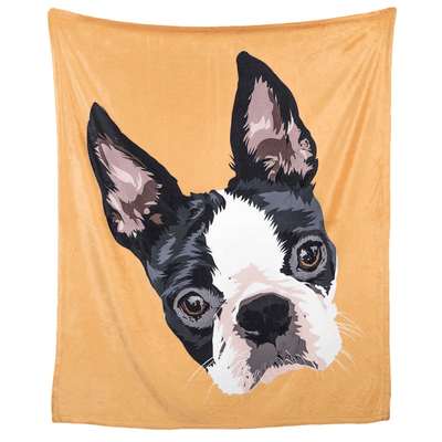 Personalised Pet Face BlanketGold
