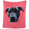 Personalised Pet Face BlanketPink