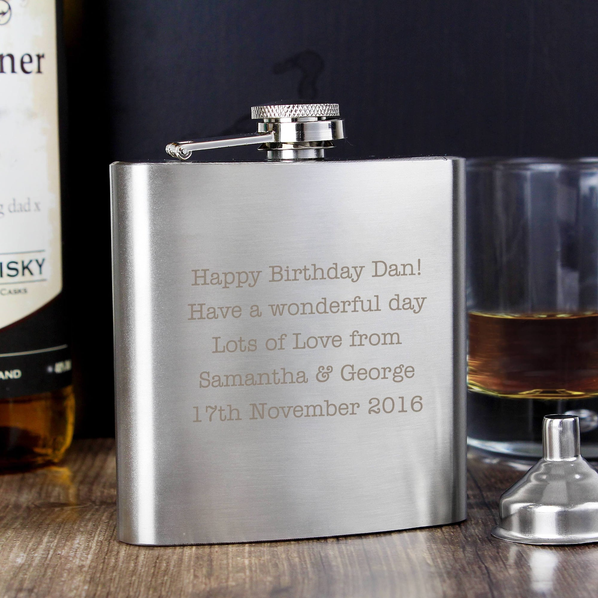 Personalizable Stainless Steel Hip Flask
