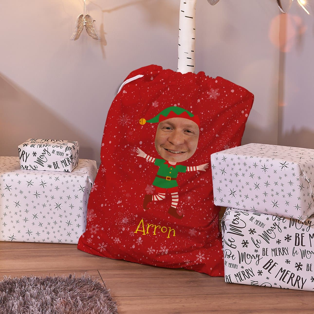 Personalized Character Santa SackElf