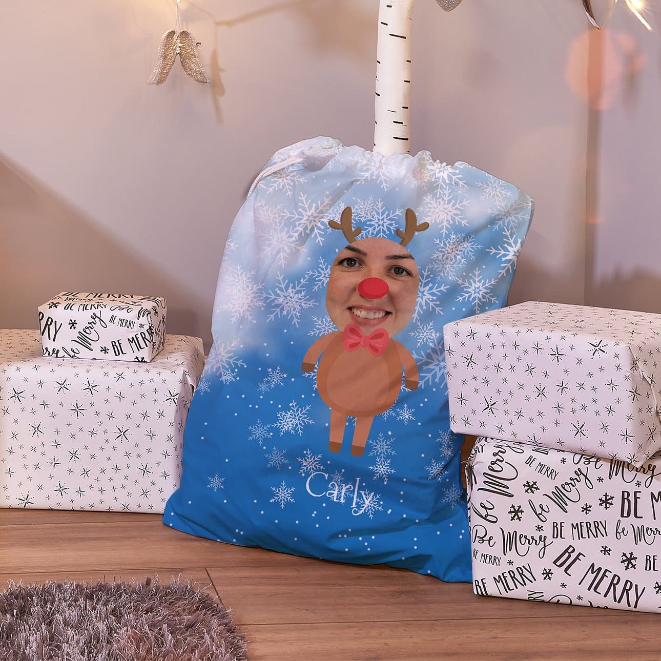 Personalized Character Santa SackRudolph