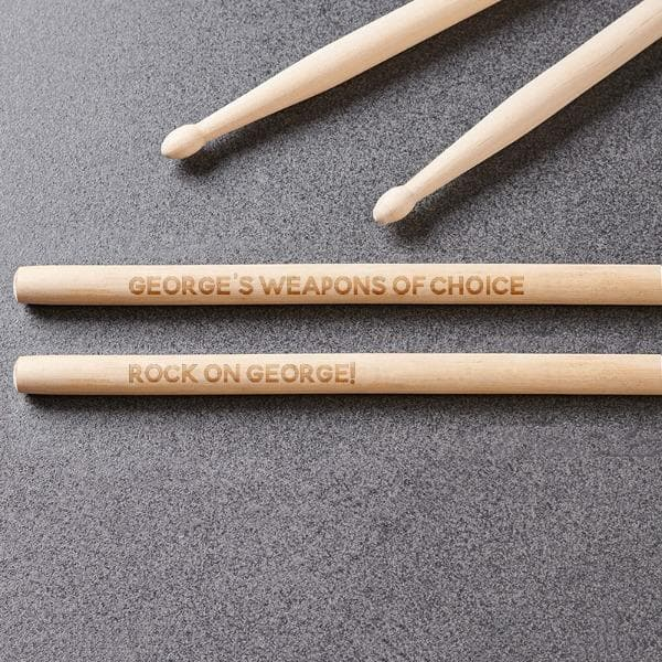 Personalized Drum Sticks (xp laz)