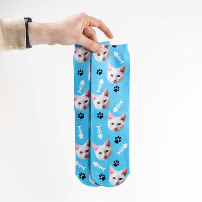 Personalized Pet SocksBlue - Fish and Paw