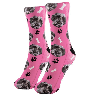 Personalized Pet SocksPink - Paw and Bone