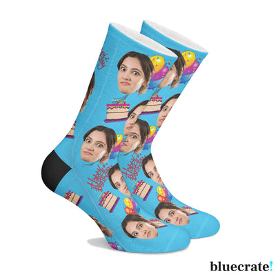 Personalized SocksBirthday Blue